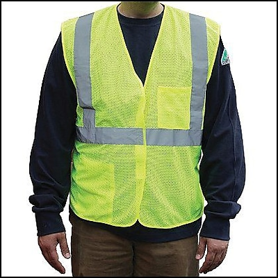 PIP ANSI Class 2 Mesh Safety Vest, Yellow, Extra Large