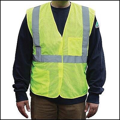 PIP ANSI Class 2 Mesh Safety Vest, Yellow, Large