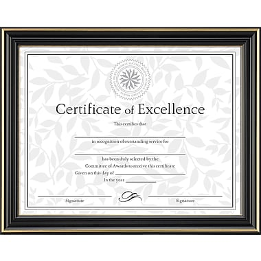 Dax Document Frame with Certificate, Gold/Black, 8 1/2