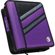 "Case•it Z-176  1 1/2"" Purple 2-in-1 Zipper Binder"