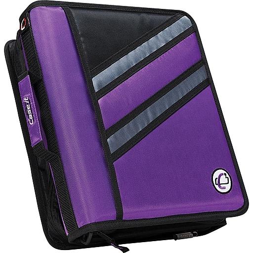 """Shop Staples For Case•it Z-176 1 1/2"""" Purple 2-in-1 Zipper"""