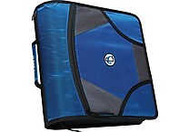 Case•it D-186 4' Blue Zipper Binder with Built-in Tab File