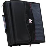 "Case•it D-901 2"" Black Zipper Binder with Removable Expanding File"