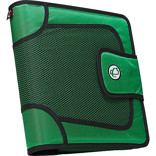 """Case•it S-816 2"""" Green Binder with Built-in Expandable File"""