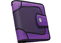 Case•it S-816 2' Purple Binder with Built-in Expandable File