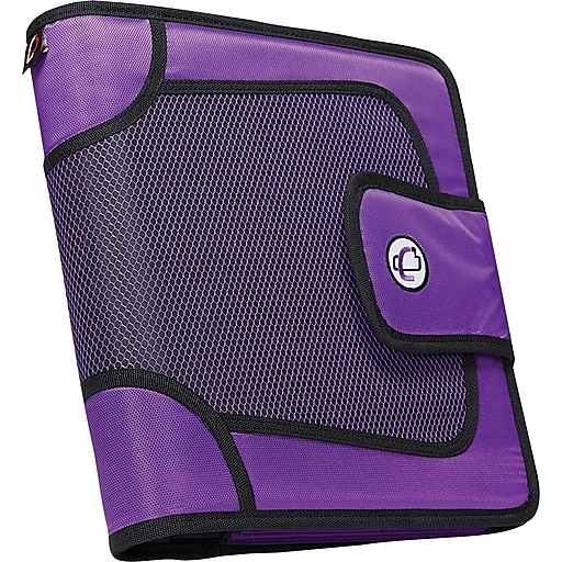 """Case•it S-816 2"""" Purple Binder with Built-in Expandable File"""