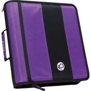 "Case•it D-251 Purple 2"" Zipper Binder"
