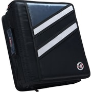 "Case•it Z-176  1 1/2"" Black 2-in-1 Zipper Binder"