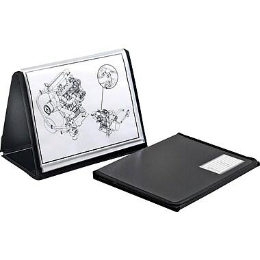 Cardinal – Album de présentation ShowFile horizontal, chevalet, 8 1/2 x 11 po, 20 protège-documents, noir