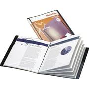 "Cardinal ShowFile Custom Display Book, 8-1/2"" x 11"", 24 Pockets, Black"
