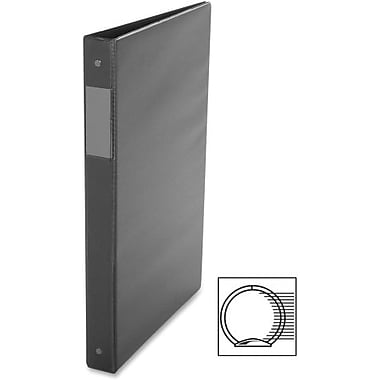 Davis Vinyl Round-Ring Legal Size Binders, Black