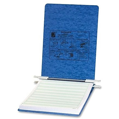 Acco - Reliure pour données Presstex à suspendre, attaches Post, 8-1/2 po x 11 po, 6 po, bleu clair