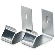 Quartet Board Partition Hanger, Nickel Plated, 2/Pack