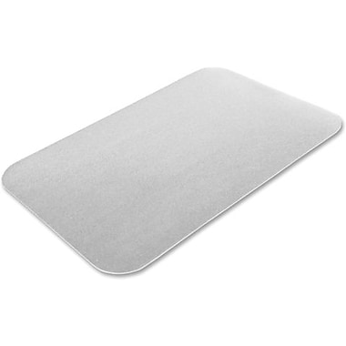 Ecotex Embossed Desk Pad, Clear