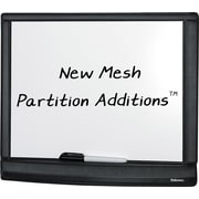 "Fellowes Mesh Partition Additions™ Dry-Erase Board, 11"" x 14"", Black"