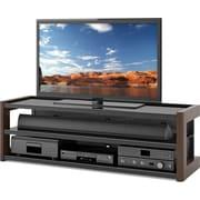 "Sonax® Milan 60"" Wood/Veneer TV Bench, Dark Wood, Espresso"