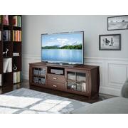 "Sonax® Washington 59"" Wood/Veneer TV/Component Bench, Dark Wood, Espresso"