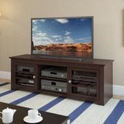 "Sonax® West Lake 60"" Wood/Veneer TV/Component Bench, Dark Wood, Espresso"