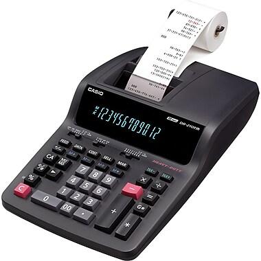 CasioMD – Calculatrice imprimante professionnelle à 2 couleurs, avec grand affichage à 12 chiffres (DR210MC)