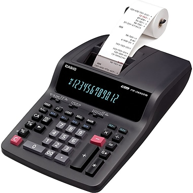 CasioMD – Calculatrice imprimante de bureau professionnelle à 2 couleurs (FR-2650TM)
