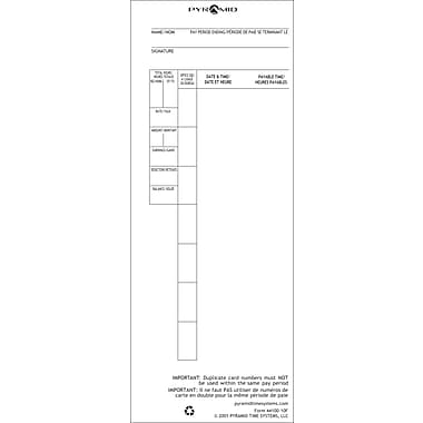Pyramid™ 44100-10 French/English Time Cards for 4000/5000 Series Time Recorders
