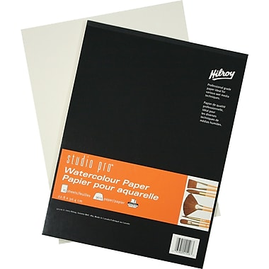 Studio pro® Watercolour Book, Padded, 15 Sheets, 9