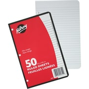 "Hilroy® 3 Hole Ruled Refill Paper, 50 Sheets, 8 - 3/8"" x 5 - 7/16"""