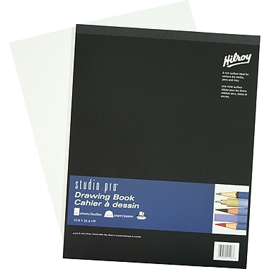 Studio pro® Drawing Book, Padded, 50 Sheets, 11