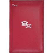 "Mead® Index Telephone and Address Book, 5 - 1/8"" x 7 - 3/4"", Assorted Colours"