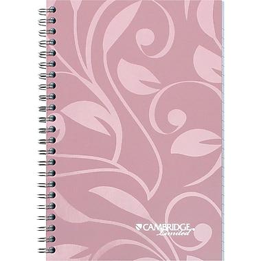 Cambridge® – Cahier de notes rose, 5 3/8 po x 8 po, 40 pages