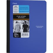 "Five Star Poly Wireless Notebook, 1 Subject, 7 - 1/2"" x 9 - 3/4"", 50 Pages"