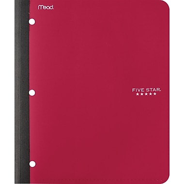 Five Star Poly Wireless Notebook, 1 Subject, 9 - 1/8
