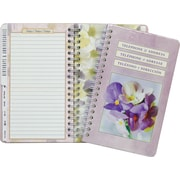 "AT - A - GLANCE® Floral Telephone/Address Book, 6 - 1/4"" x 8 - 1/2"""