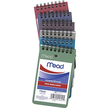Mead MD – Carnet de notes en poly, 3 x 5 po, 100 feuilles