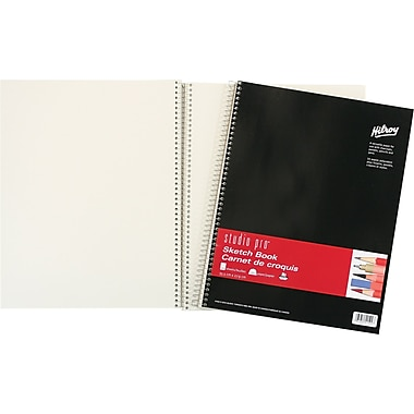 Studio pro® Sketch Book, Coil Bound, 100 Sheets, 11