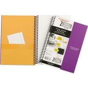 "Five Star Wirebound Premium Heavyweight Paper Notebook, 2 Subject, 6"" x 9 - 1/2"", 200 Pages"