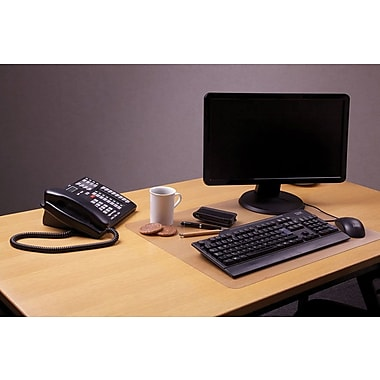 Desktex® Anti-Slip Polycarbonate Desk Mat, Clear, 19