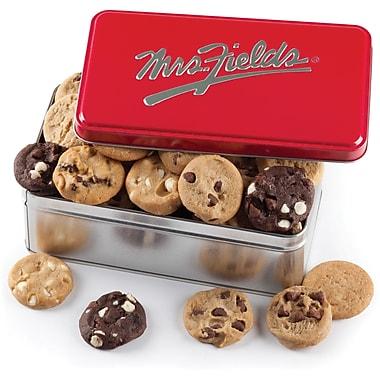Biscuits Mrs.Field's – Contenant métallique rouge classique, contenant/28 biscuits