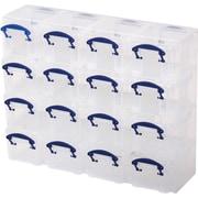 Really Useful Boxes® – Ensemble organisateur de rangement, boîtes de 0,3 L, ens./16 boîtes, incolore