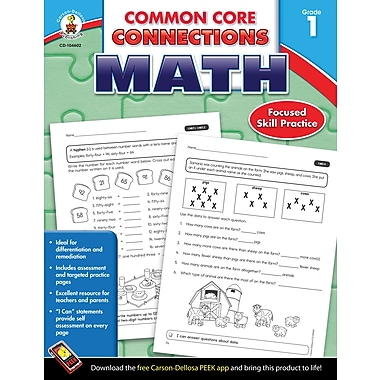 Carson-Dellosa Common Core Connections Math Workbook, Grade 1, Ages 6-7, 96 Pages