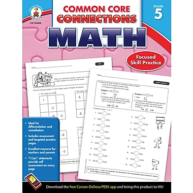 Carson-Dellosa Common Core Connections Math Workbook, Grade 5, Ages 10-11, 96 Pages (104606)