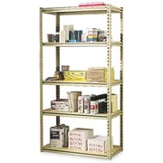 "Tennsco Stur-D-Stor Boltless Steel Shelving, 5 Shelves, Sand, 72""H x 36""W x 18 1/2""D"