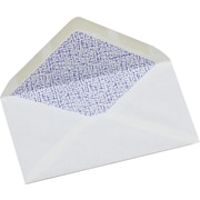 "Simply™ #8 Tinted White Security Envelope, 3 - 5/8"" x 6 - 1/2"", Gummed, 50/Box"