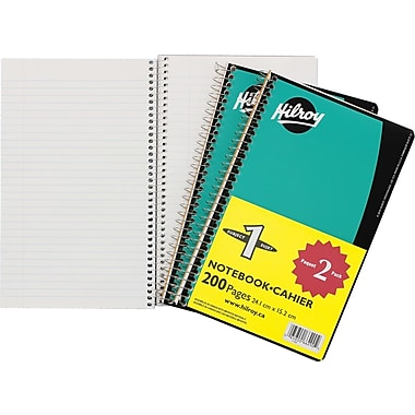 Hilroy® Coil Notebook with Margin, 1 Subject, 9-1/2