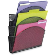 Safco Onyx Magic Magnetic Triple File Pocket, Letter-Size, Black