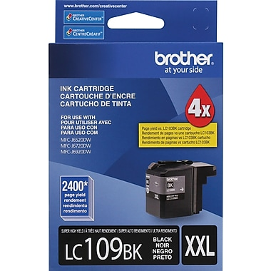 Brother LC109 Black Ink Cartridge (LC109PKS), Super High Yield