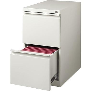 Hirsh – Classeur mobile de type caisson à 2 tiroirs, 23 po de profondeur, gris pâle
