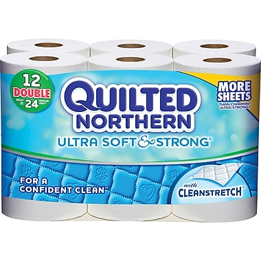 Quilted Northern® Ultra Soft & Strong Toilet Paper, 12 Rolls/Case