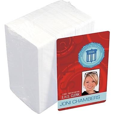 Idville 30 mil white plastic card (100 pk)