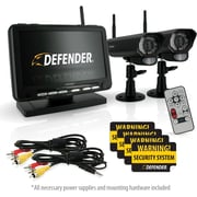 "Defender® Digital Wireless DVR Security System w/ 7"" LCD Monitor, SD Card Recording & Two Long Range Night Vision Cameras"